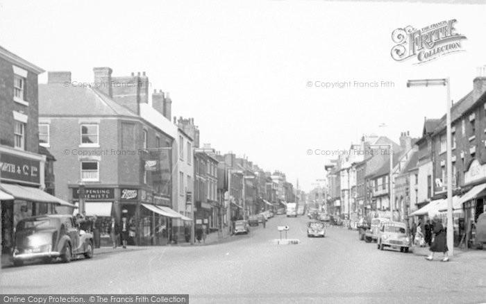 Photo of Ashby De La Zouch, Market Street c.1955