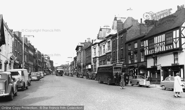 Photo of Ashby De La Zouch, Market Street c.1955