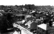 Ashby-De-La-Zouch, view from St Helen's Church c1965