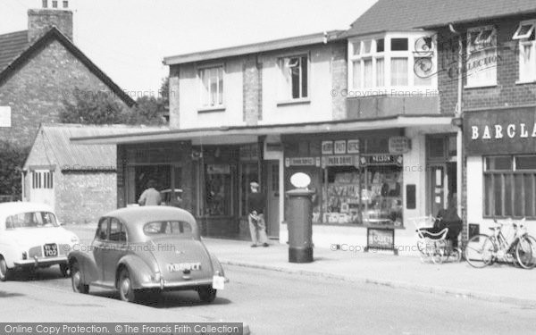 Photo of Ashby, Shops, Collum Lane c.1960