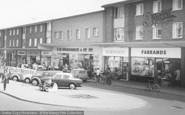 Photo of Ashby, The Broadway Shops c.1965