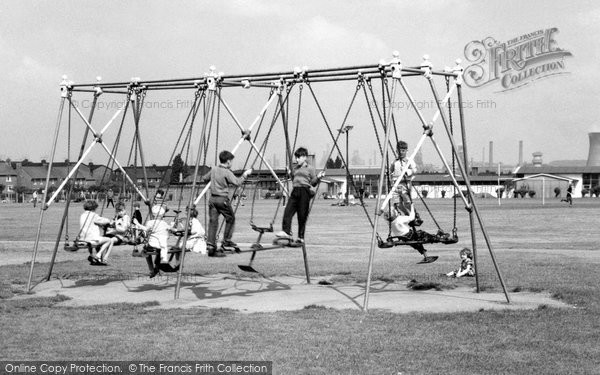 Photo of Ashby, The Swings c.1960