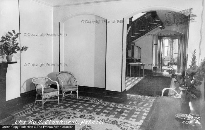 Photo of Ashcott, Etonhurst, The Hall c.1955