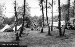 Ashdown Forest, Camp Site, Broadstone Warren c.1955