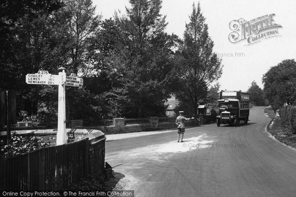 Photo of Ashdown Forest, Directing Traffic At Wych Cross 1927