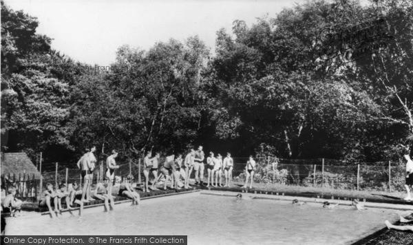 Photo of Ashdown Forest, Swimming Pool, Broadstone Warren c.1955
