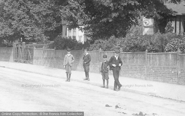 Photo of Ashford, Boys In Elwick Road 1901