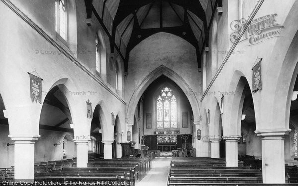Photo of Ashford, Church Interior 1895