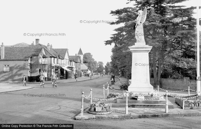 Photo of Ashford, Church Road And War Memorial 1950