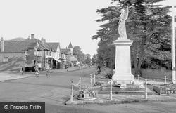 Ashford, Church Road And War Memorial 1950