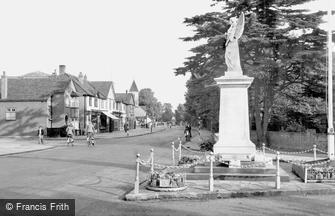 Ashford, Church Road and War Memorial 1950
