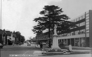 Ashford, Church Road And War Memorial 1965