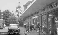 Ashford, Church Road, Parade Of Shops 1962