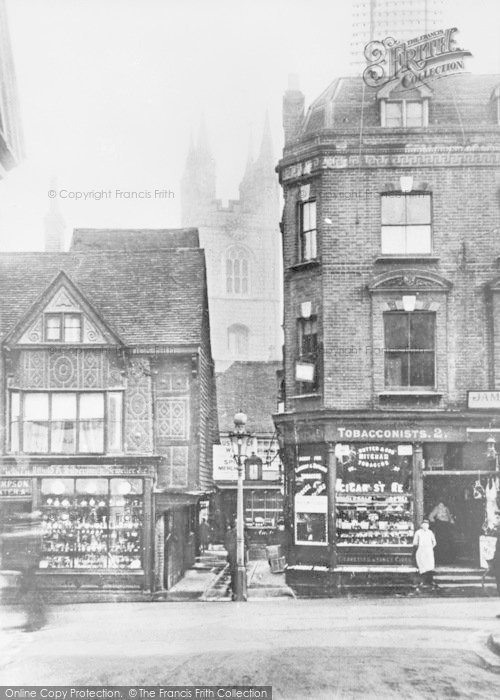 Photo of Ashford, High Street And Church c.1910