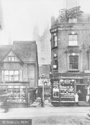 Ashford, High Street And Church c.1910