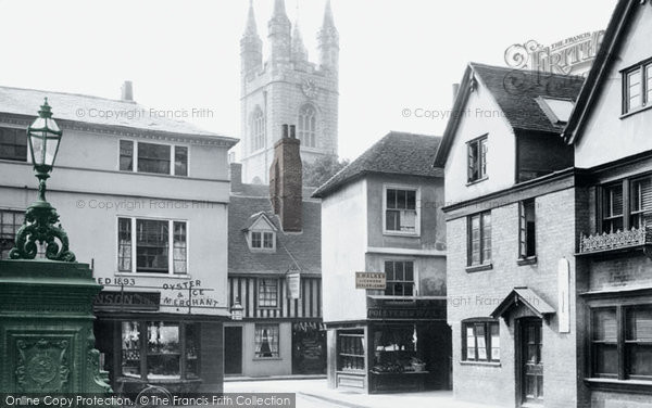 Photo of Ashford, High Street And St Mary's Church 1901
