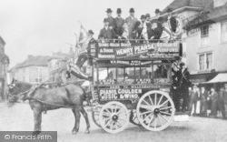 Ashford, Horse-Drawn Bus, High Street c.1900