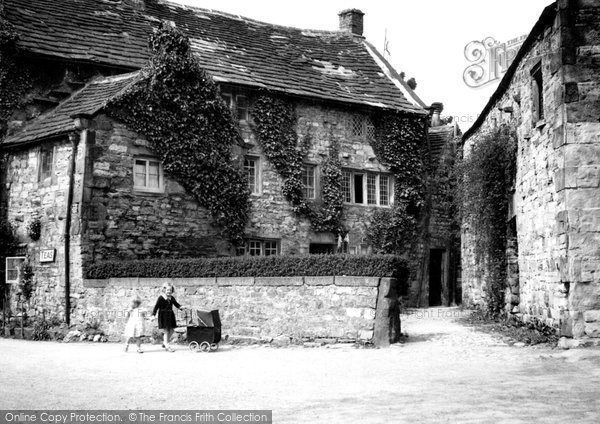Photo of Ashford In The Water, Old Cottages c.1955