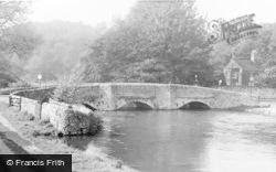 Ashford-In-The-Water, Sheepwash Bridge c.1955