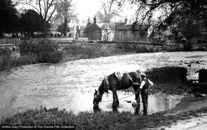 Photo of Ashford In The Water, The Day's Work Done c.1955