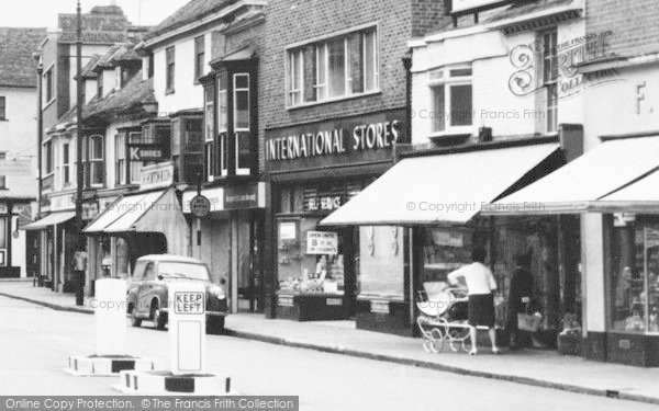 Photo of Ashford, International Stores, High Street c.1960