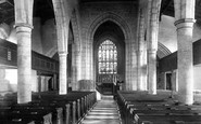 Ashford, Parish Church Interior 1901