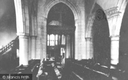 Ashford, Parish Church Interior 1928