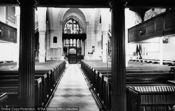 Photo of Ashford, Parish Church Interior c.1960