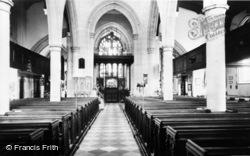 Ashford, Parish Church, Interior c.1960