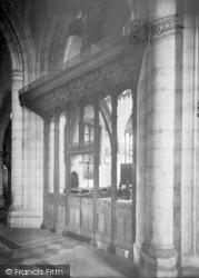 Ashford, Parish Church Interior, Screen 1921