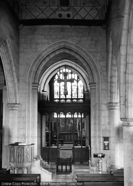 Ashford, St Mary's Church Interior c.1950