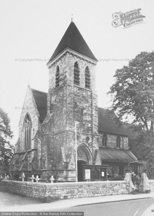 Photo of Ashford, St Matthew's Church 1954