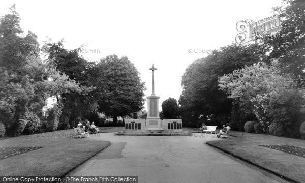 Photo of Ashford, The War Memorial c.1960