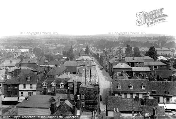 Photo of Ashford, View From Church 1901