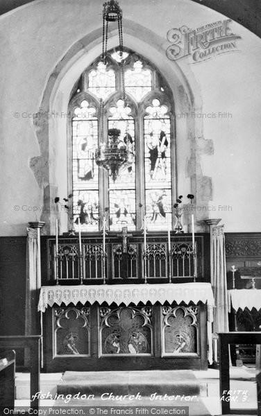 Photo of Ashingdon, Church Interior c.1955