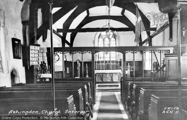 Photo of Ashingdon, Church Interior c.1955