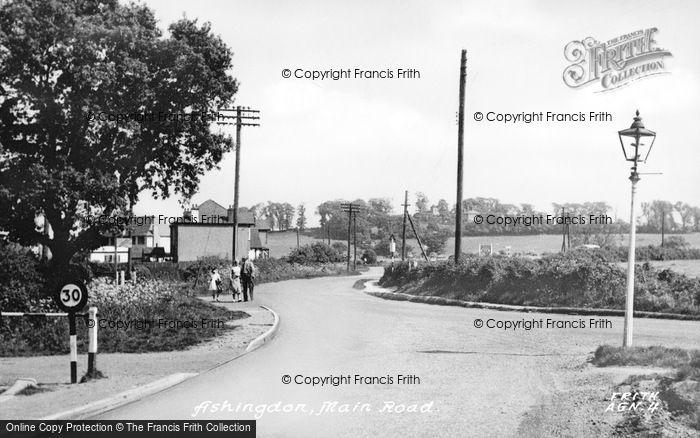 Photo of Ashingdon, Main Road c.1955