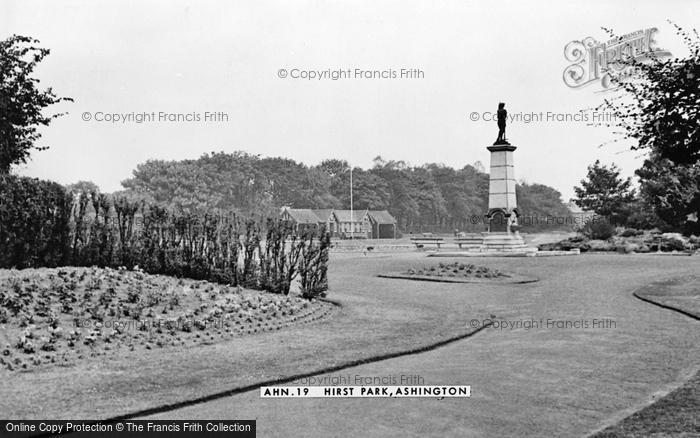 Photo of Ashington, Hirst Park c.1955
