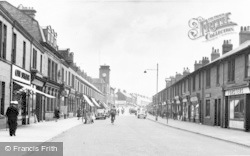 Ashington, Station Road c.1955