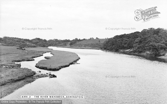 Photo of Ashington, The River Wansbeck c.1955