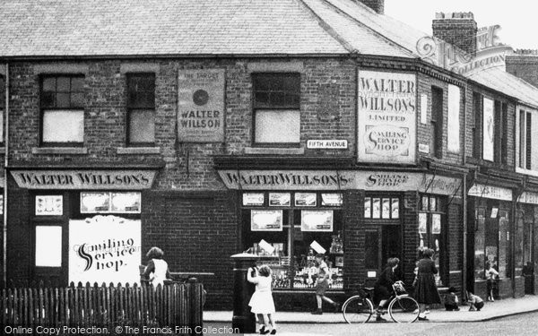 Photo of Ashington, Village Shop, Milburn Road c.1955