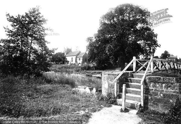 Photo of Ashow, Church And Bridge 1892