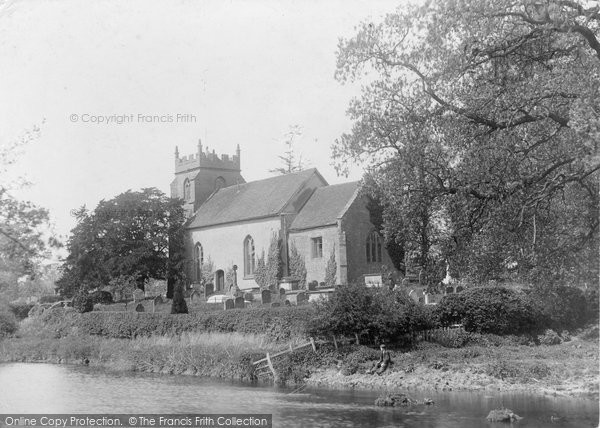 Ashow, Church and River c1880