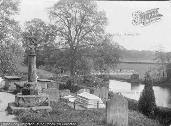 Photo of Ashow, Sundial And River Avon c.1880