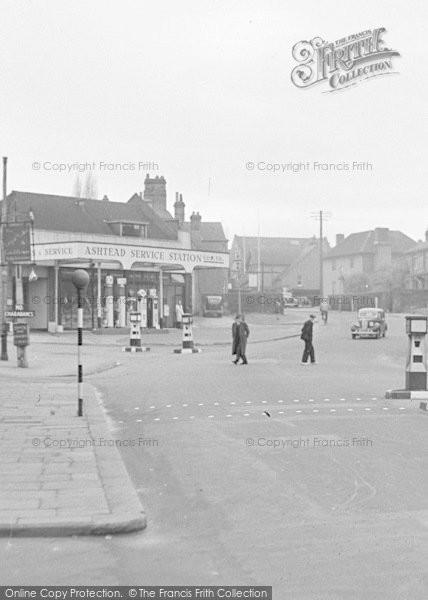 Photo of Ashtead, High Street, Ashtead Service Station c.1950