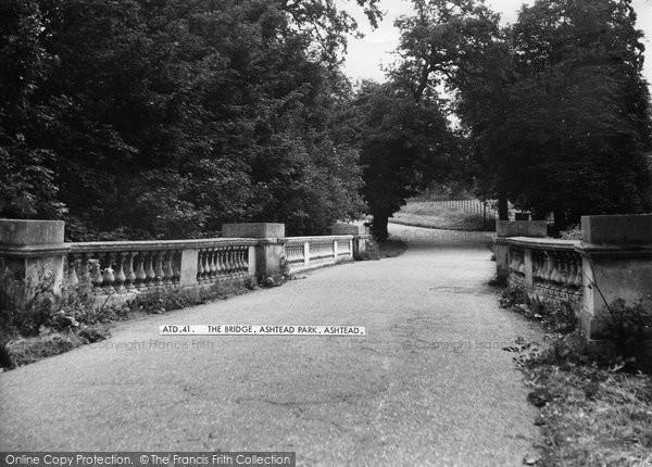 Photo of Ashtead, Park, The Bridge c.1955