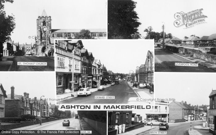 Photo of Ashton In Makerfield, Composite c.1960