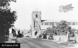 Ashton-In-Makerfield, St Thomas' C.E. Church, Warrington Road c.1955