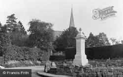 Ashurst Wood, War Memorial And Congregational Church c.1955