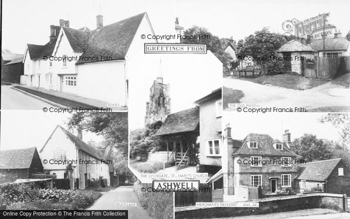Photo of Ashwell, Composite c.1955